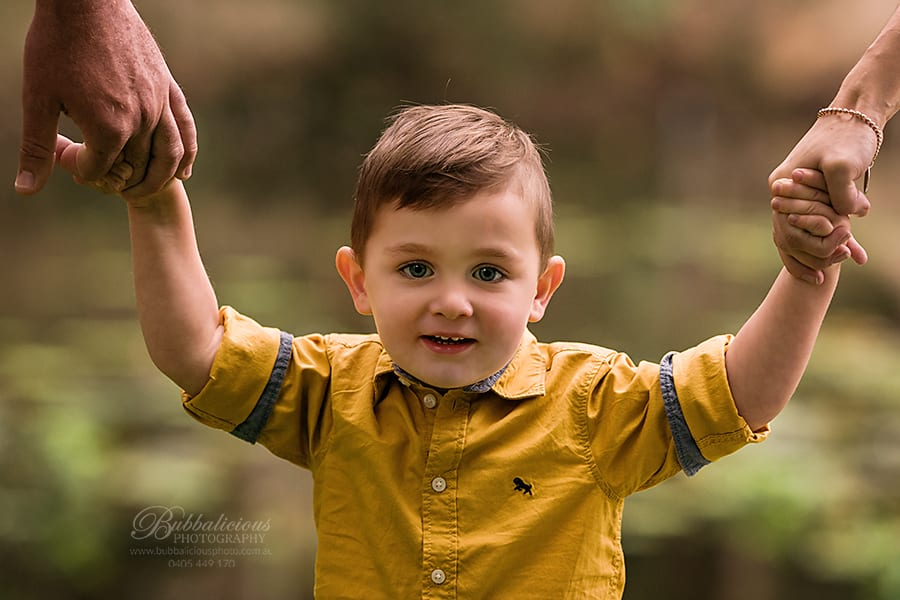 A young boy in a yellow shirt - Sunshine Coast Gympie Maternity Photographer