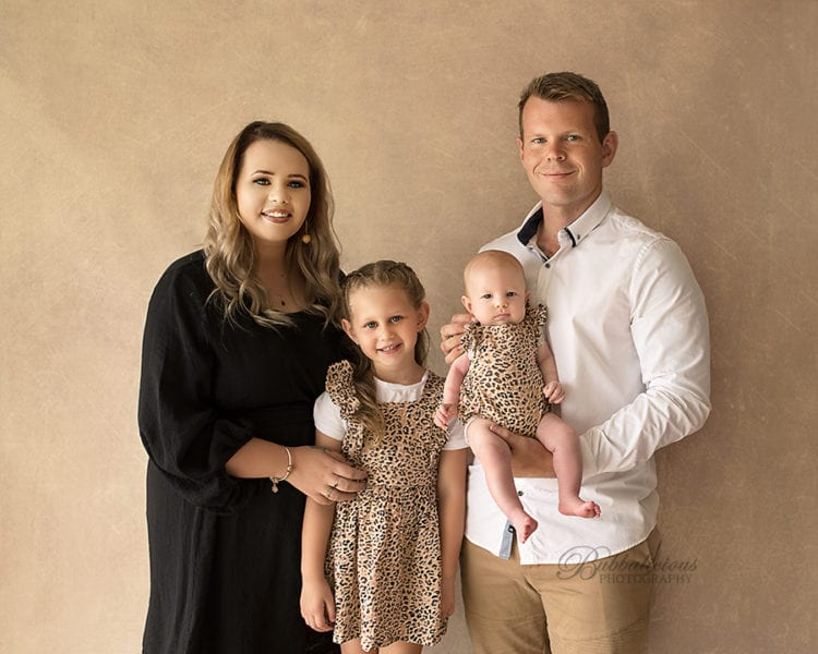 Mum, Dad and big sister with their new baby - Sunshine Coast Gympie Newborn Photographer